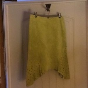 J Marcos Suede Skirt Size 4